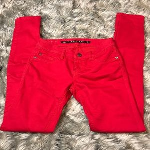 Tinseltown Denim red pants